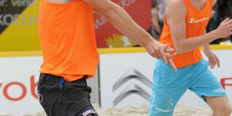 beach volleybal verdedigen